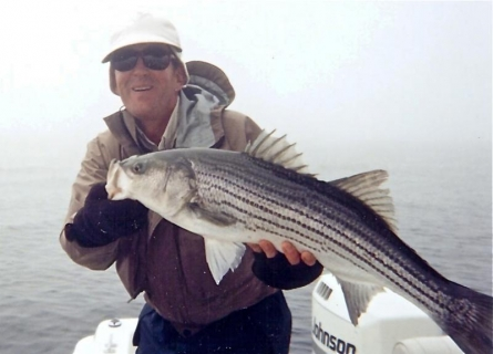 Another striper - Yet a striper enticed by a Phar Phly
