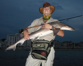 Jacques with a Smooth hound shark -