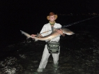 Jacques with a Black spot gully shark -
