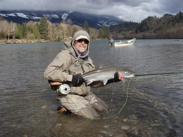 Skagit Fish - The author with a beautiful fish