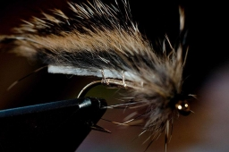 Thick skinned - Some zonker strips are very thick skinned like this squirrel. That makes it important to be a little careful when tying on the wing, but won\'t affect the finished fly much as long as the skin is tanned and soft