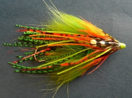 Squidlegs - Another steelhead fly in the Intruder tradition... and then some! From Canadian Tube Flies.