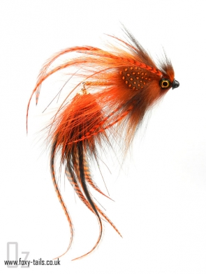 The Weasel - Linked pike fly in rusty red colors