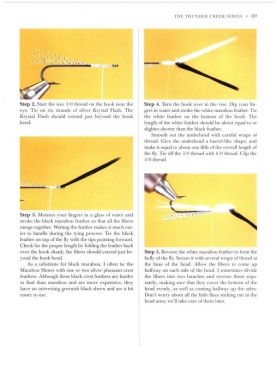 Tying sequence - The tying method is clearly illustrated and contains lots of tips on tying perfect Thunder Creeks