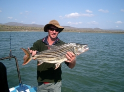 A boat caught Tiger on the Pongola Dam -