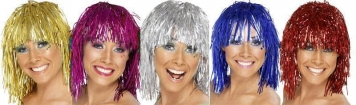 Tinsel wigs - Smiles and happy faces, but notice the wigs: large fly materials galore and at very low prices