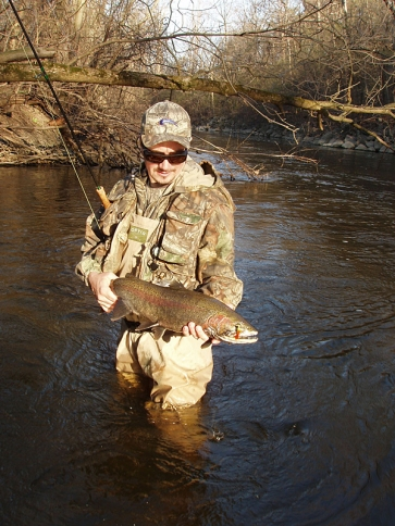 Tony with a steelhead -