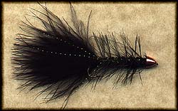 CONE Head BLACK WOOLLY BUGGER Image