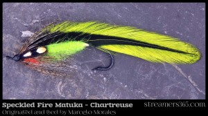 Speckled Fire Matuka (Chartreuse) by Marcelo Morales